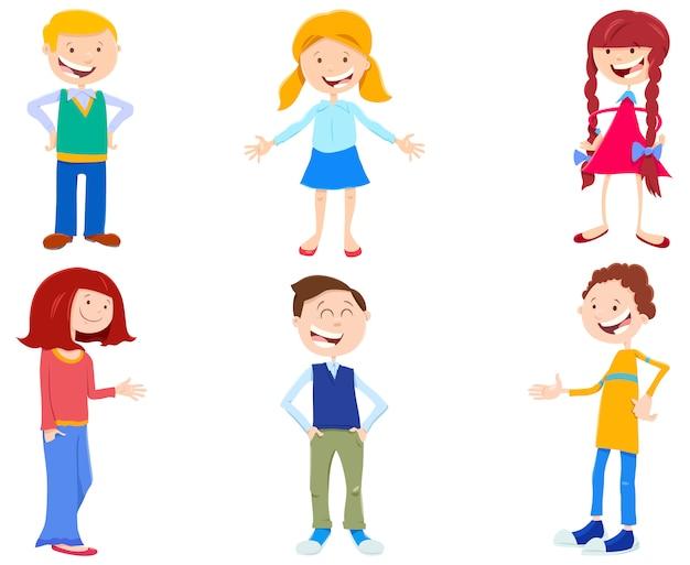 Illustration de dessin animé de jeu d'enfants et adolescents