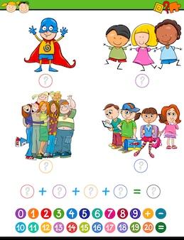 Illustration de dessin animé jeu math
