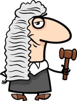 Illustration de dessin animé de juge
