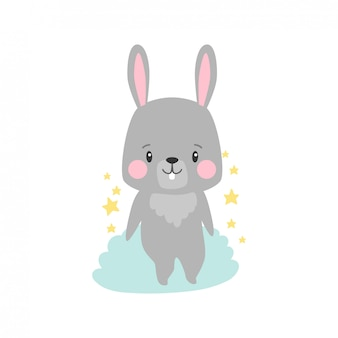 Illustration de dessin animé de lapin