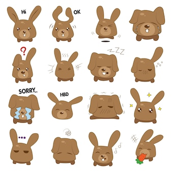 Illustration de dessin animé de lapin.