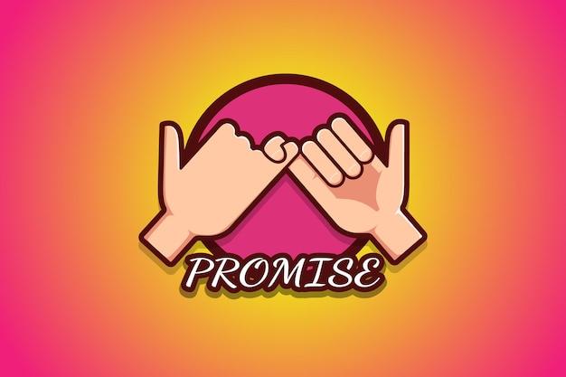 Illustration de dessin animé de logo de promesse