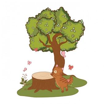Illustration de dessin animé mignon animal de compagnie
