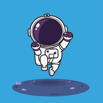 Illustration de dessin animé mignon astronaute