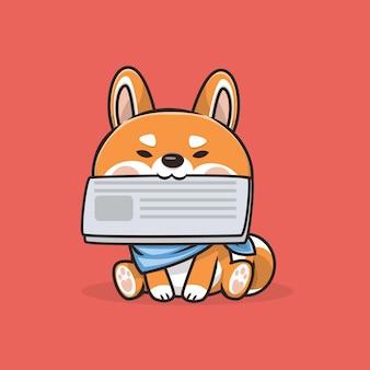 Illustration de dessin animé mignon chien