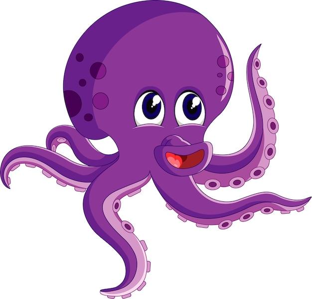 Illustration de dessin animé mignon octopus