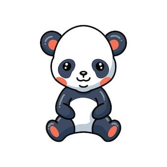 Illustration de dessin animé mignon petite fille panda tenant des fleurs