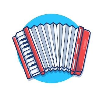 Illustration de dessin animé de musique classique accordéon