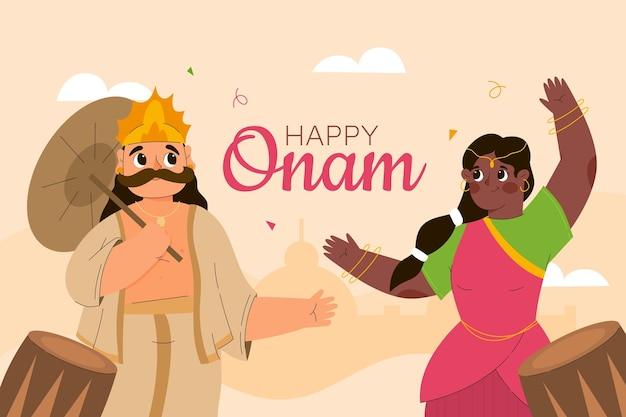 Illustration de dessin animé onam