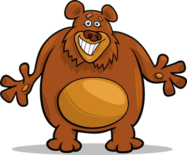 Illustration de dessin animé de l'ours brun