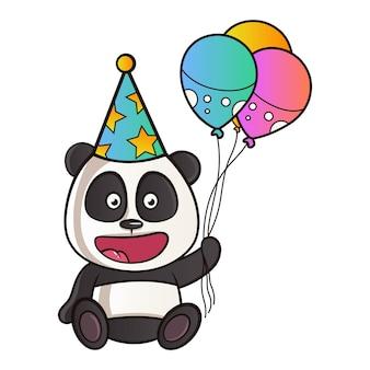 Illustration de dessin animé de panda.