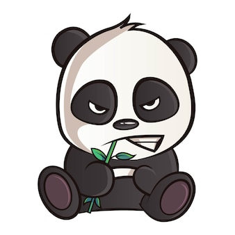 Illustration de dessin animé de panda.