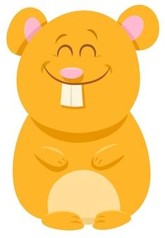 Illustration de dessin animé d'un personnage animal de hamster