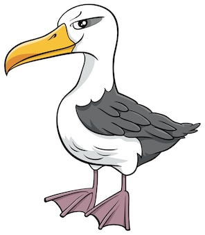 Illustration de dessin animé de personnage animal oiseau albatros