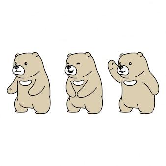 Illustration de dessin animé de personnage polaire ours