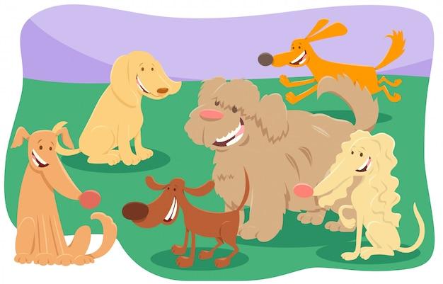 Illustration de dessin animé de personnages animaux de chiens