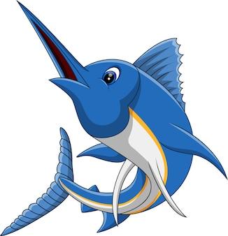 Illustration de dessin animé de poisson marlin