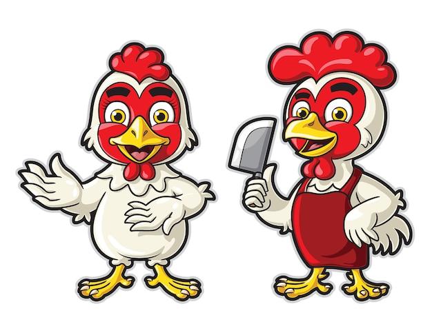 Illustration de dessin animé de poulet