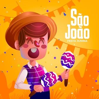 Illustration de dessin animé de sao joao