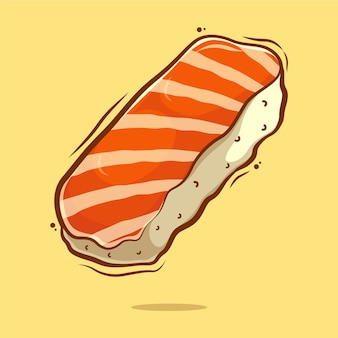 Illustration de dessin animé de sushi