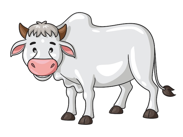 Illustration de dessin animé de vache