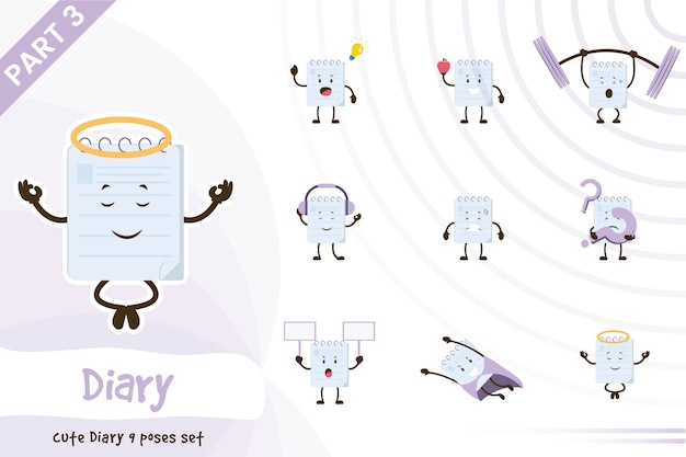 Illustration de dessin animé de vecteur de jeu de journal mignon