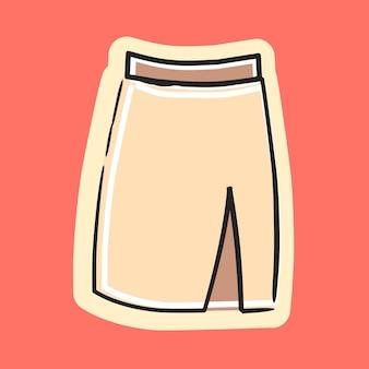 Illustration de dessin animé de vecteur de jupe de bureau de filles mignonnes et à la mode