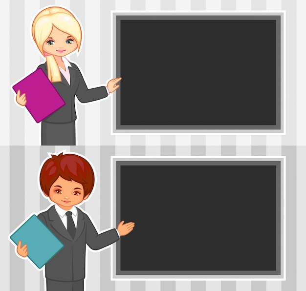 Illustration de dessin animé de vecteur de personnes au bureau