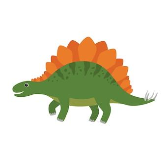 Illustration de dessin animé de vecteur stegosaurus