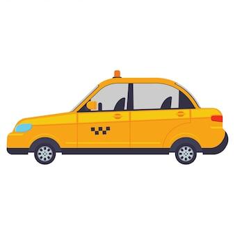Illustration de dessin animé de vecteur de taxi isolé.