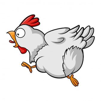 Illustration de dessin animé de vecteur de vol de poule.