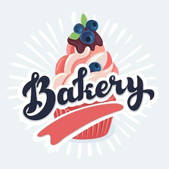 Illustration de dessin animé de vetor de cupcake
