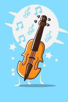 Illustration de dessin animé de violon