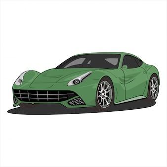 Illustration de dessin animé de voiture, voiture de vitesse