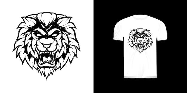 Illustration de dessin au trait lion