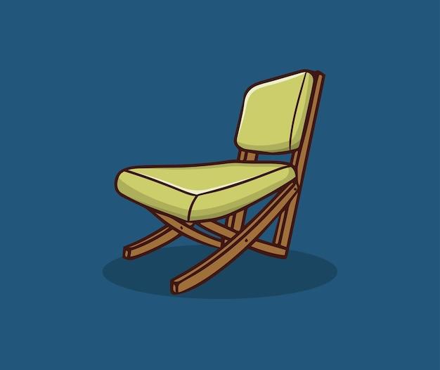 Illustration de dessin à la main de chaises longues