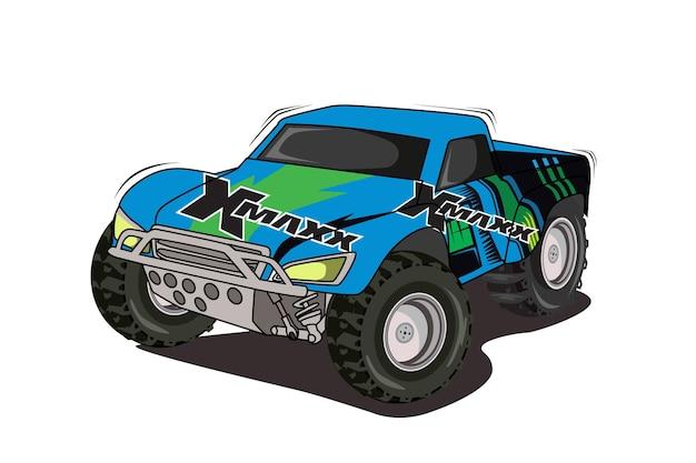 Illustration de dessin à la main de gros monstres de camion