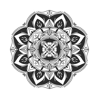 Illustration de dessin main mandala