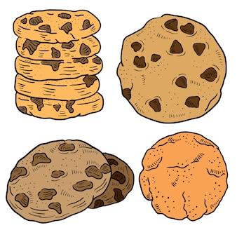 Illustration dessinée de biscuit à la main.
