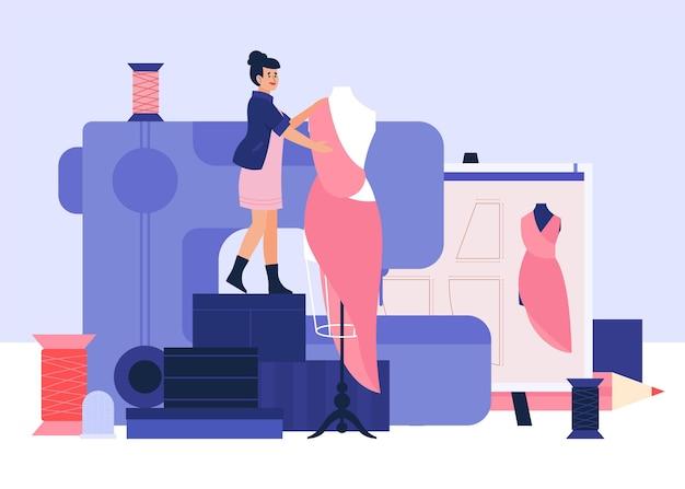 Illustration dessinée à la main de créateur de mode