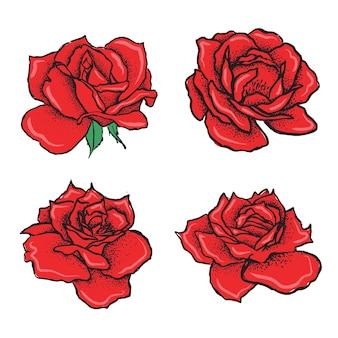 Illustration dessinée à la main de fleur rose