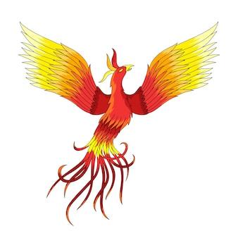 Illustration dessinée à la main phoenix