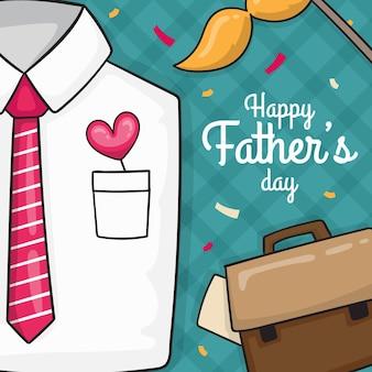 Illustration dessinée à la main pour la fête des pères