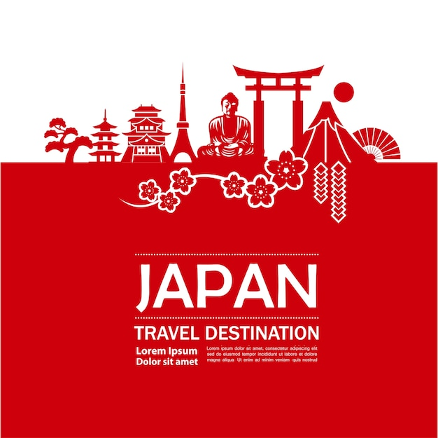 Illustration de destination de voyage au japon