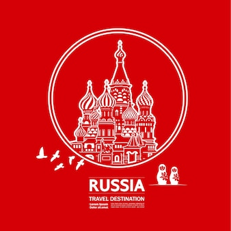 Illustration de destination de voyage en russie.