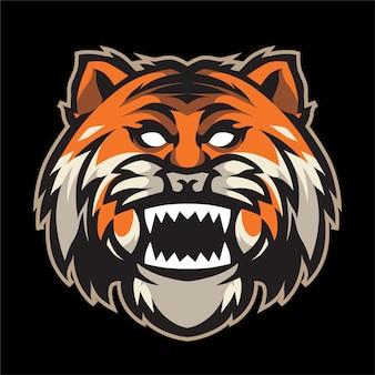 Illustration de détail de tête de tigre