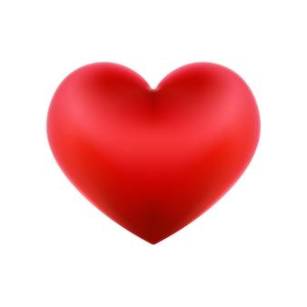 Illustration détaillée avec un coeur rouge saint-valentin.