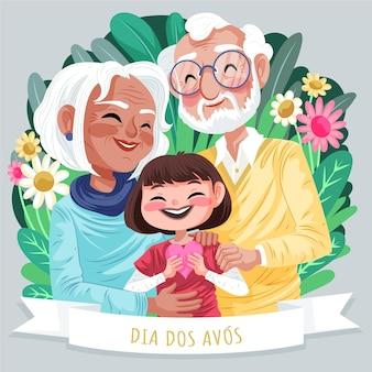 Illustration détaillée de dia dos avos