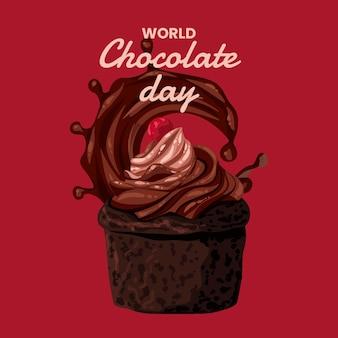 Illustration détaillée de la journée mondiale du chocolat