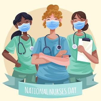 Illustration détaillée de la journée nationale des infirmières